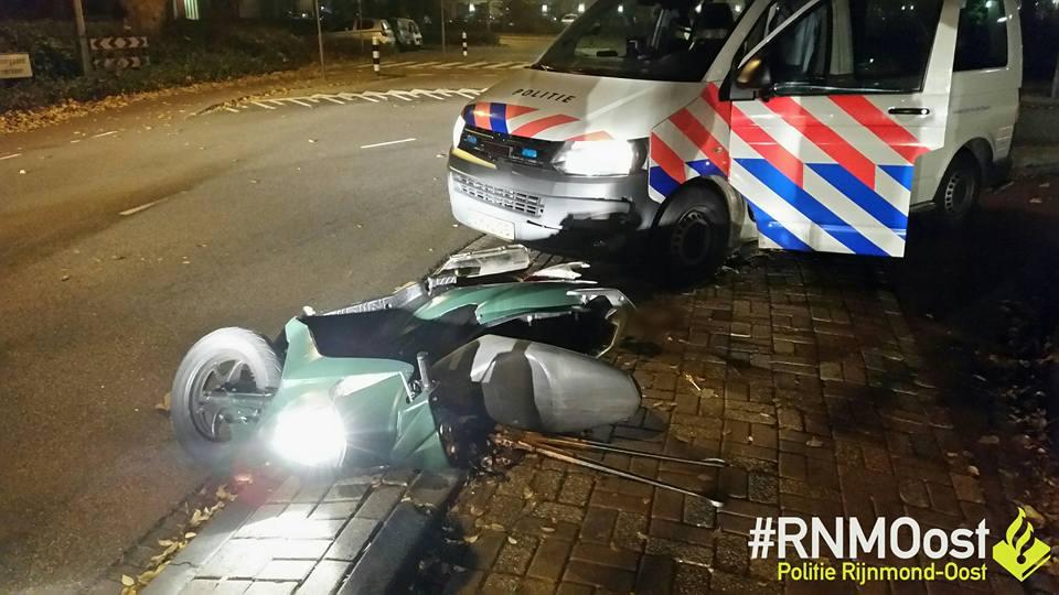 Aanhoudingen na diefstal motorscooter