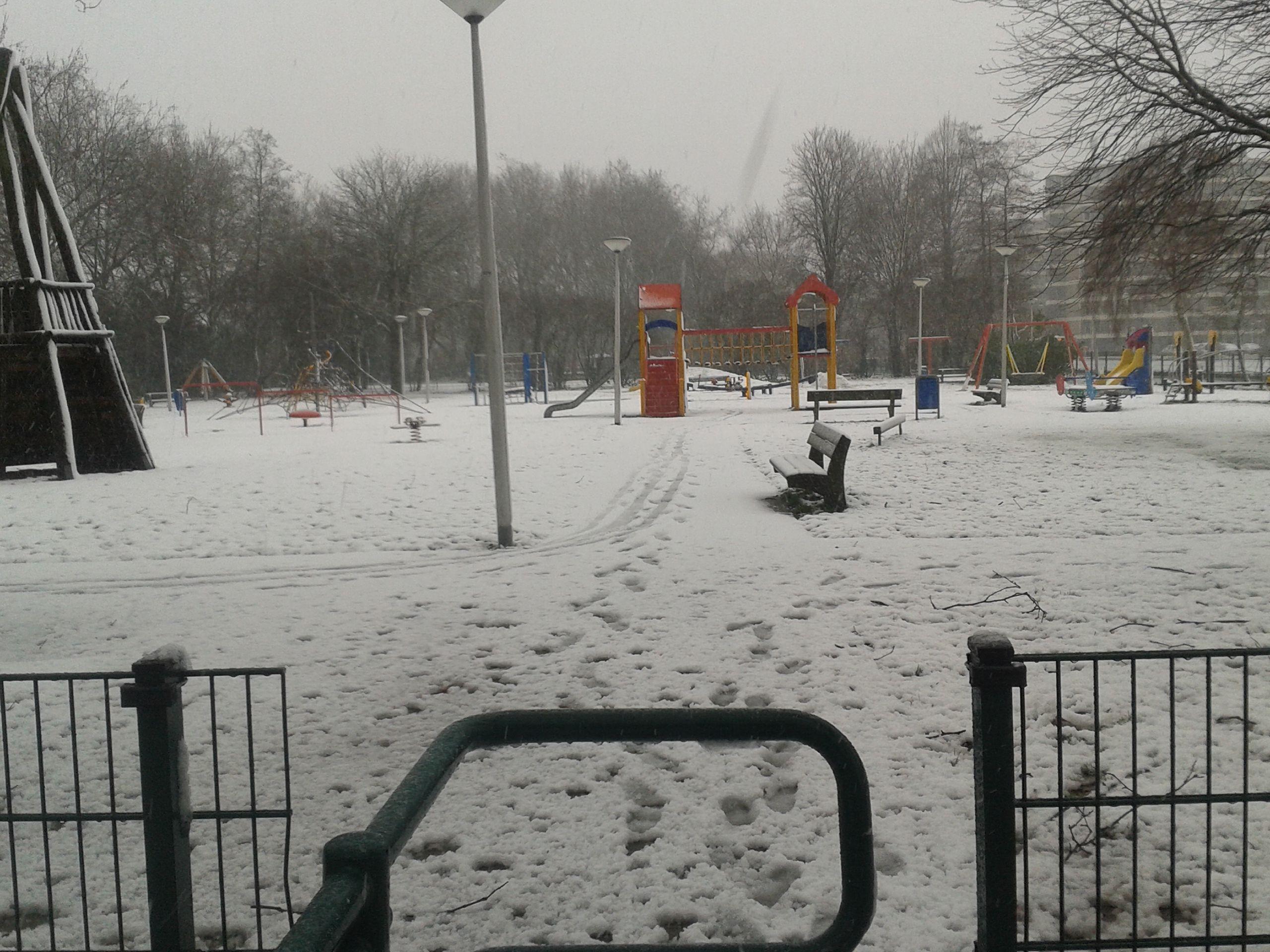 Eerste sneeuwval in Krimpen