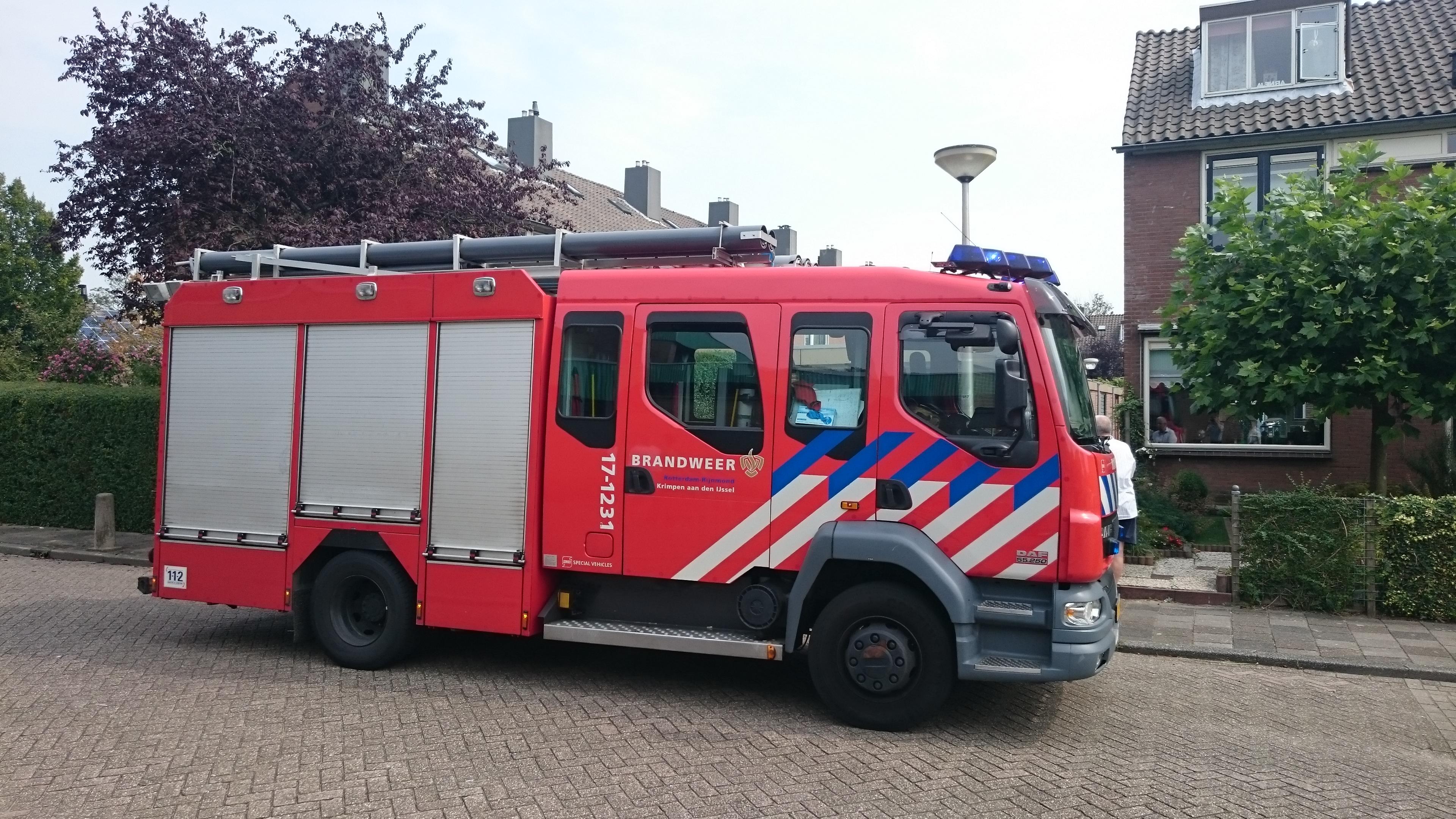 Brandweerinzet aan de Allegro